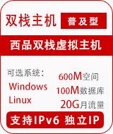 西品双栈普及型独立IP
